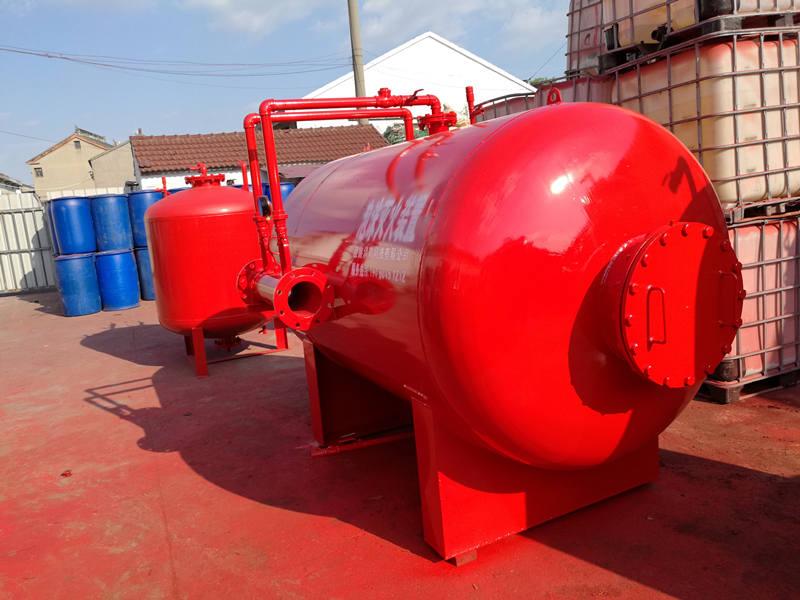 压力式泡沫比例混合装置参数说明以及泡沫液的灌装-消防泡沫罐